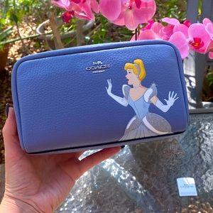 Disney X Coach Boxy Cosmetic Case With Cinderella
